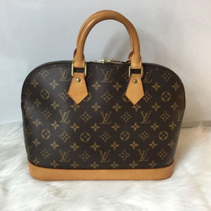 100% Authen Louis Vuitton  Alma with Lock and Key